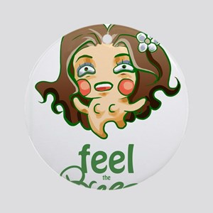 Feel the Breeze Ornament (Round)