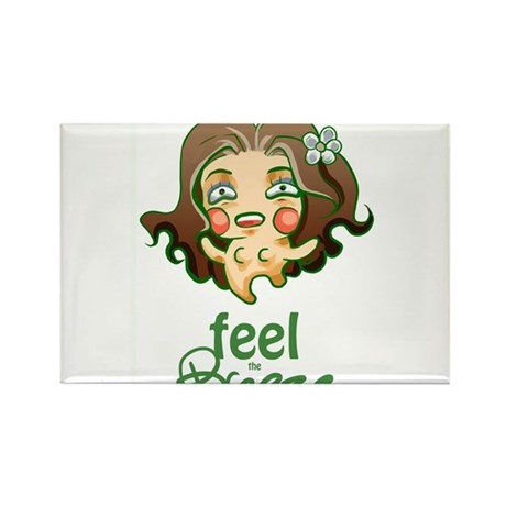 Feel the Breeze Rectangle Magnet