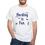 Herding Fun White T-Shirt