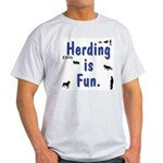 Herding Fun Ash Grey T-Shirt