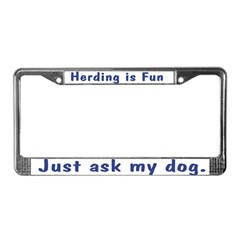 Herding Fun License Plate Frame