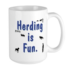 Herding Fun Large Mug