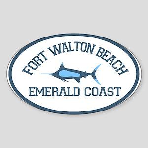 Fort Walton Beach - Fishing Design. Sticker (Oval)