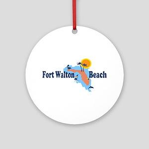 Fort Walton Beach - Map Design. Ornament (Round)