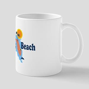 Fort Walton Beach - Map Design. Mug