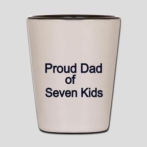 Proud Dad of seven Kids 2 Shot Glass