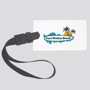 Fort Walton Beach - Surf Design. Large Luggage Tag