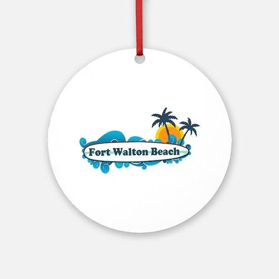 Fort Walton Beach - Surf Design. Ornament (Round)