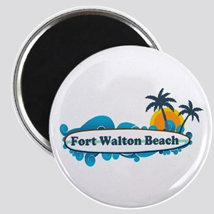 Fort Walton Beach - Surf Design. Magnet