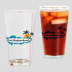Fort Walton Beach - Surf Design. Drinking Glass