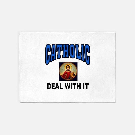 CATHOLIC 5'x7'Area Rug