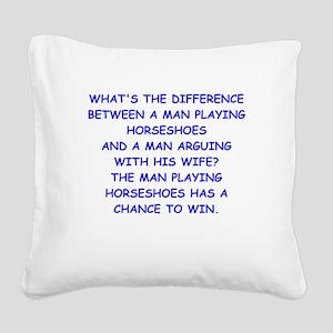 HORSESHOES Square Canvas Pillow