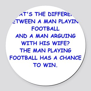 FOOTBALL2 Round Car Magnet