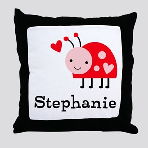 Ladybug (p) Throw Pillow