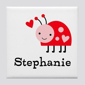 Ladybug (p) Tile Coaster