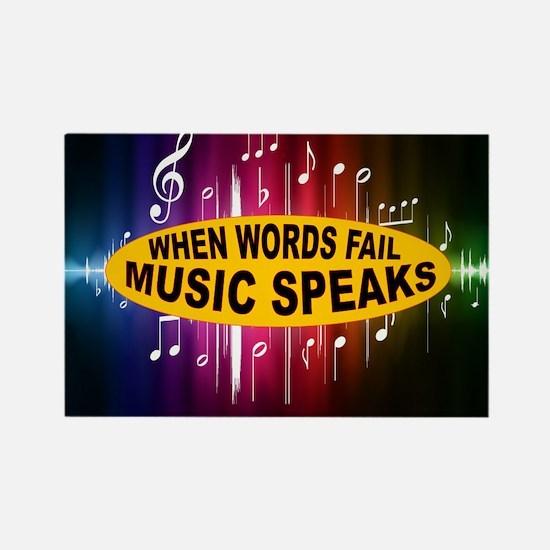 MUSIC SPEAKS Rectangle Magnet