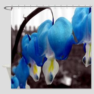 Blue Bleeding Heart Flowers Shower Curtain