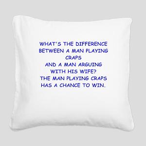CRAPS2 Square Canvas Pillow