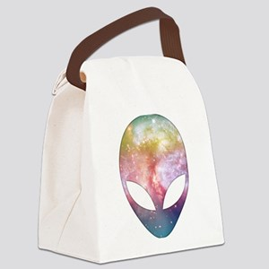 Cosmic Alien Canvas Lunch Bag