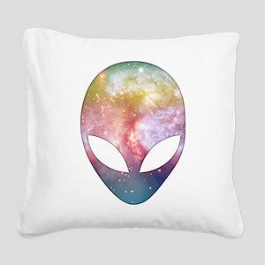 Cosmic Alien Square Canvas Pillow