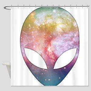 Cosmic Alien Shower Curtain