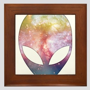 Cosmic Alien Framed Tile