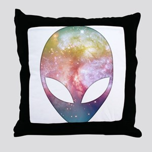 Cosmic Alien Throw Pillow