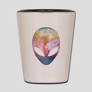 Cosmic Alien Shot Glass