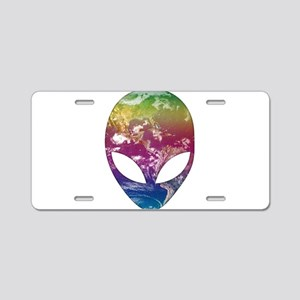 Cosmic Alien Aluminum License Plate