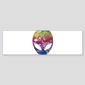 Cosmic Alien Bumper Sticker