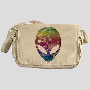 Cosmic Alien Messenger Bag