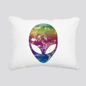 Cosmic Alien Rectangular Canvas Pillow