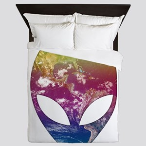 Cosmic Alien Queen Duvet