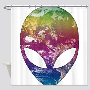 Cosmic Alien Shower Curtain