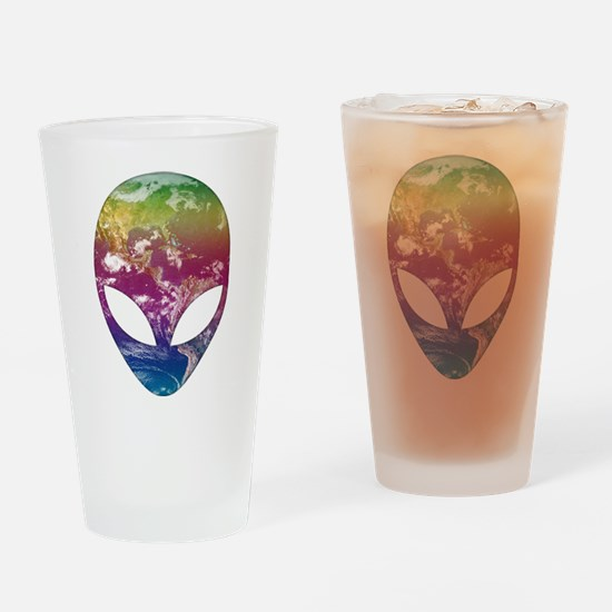Cosmic Alien Drinking Glass