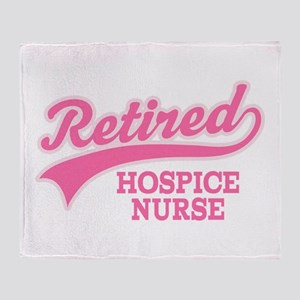 Retired Hospice Nurse Throw Blanket