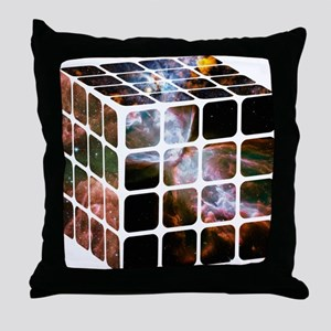 Cosmic Cube Throw Pillow
