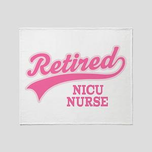 Retired NICU Nurse Throw Blanket
