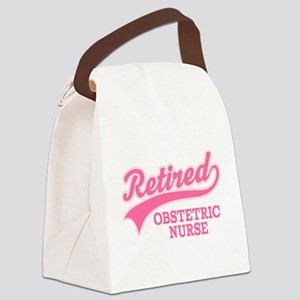 Retired Obstetric Nurse Canvas Lunch Bag