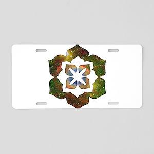 Cosmic Flower Aluminum License Plate