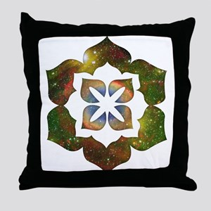 Cosmic Flower Throw Pillow