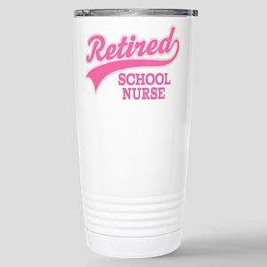 Retired School Nurse Stainless Steel Travel Mug