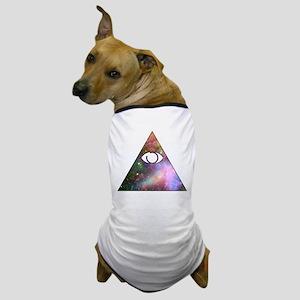 All Seeing Cosmic Eye Dog T-Shirt
