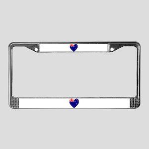 New Zealand Flag Heart License Plate Frame