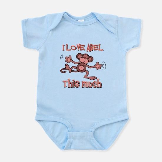 I love Abel this much Infant Bodysuit