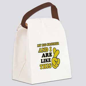 Me and Big Brother are like this Canvas Lunch Bag