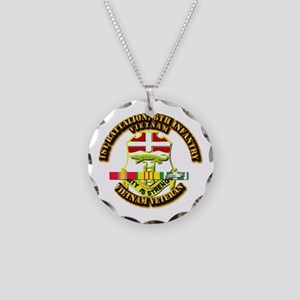 1st Battalion, 6th Infantry Necklace Circle Charm