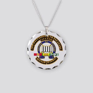 3rd Battalion, 7th Infantry Necklace Circle Charm