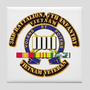 3rd Battalion, 7th Infantry Tile Coaster