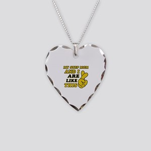 Me and Step Mom are like this Necklace Heart Charm